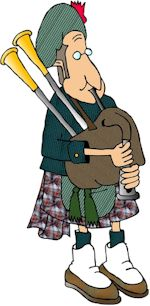 cartoon scottish bagpipes
